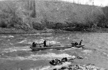 """More rough water - and swift. ca. 1929"""