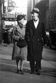 Claude and Mary on the street in Vancouver. January, 1942