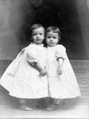 "Mary and Mark, ca. 1900. Mark was also known to his siblings as ""Bud."""